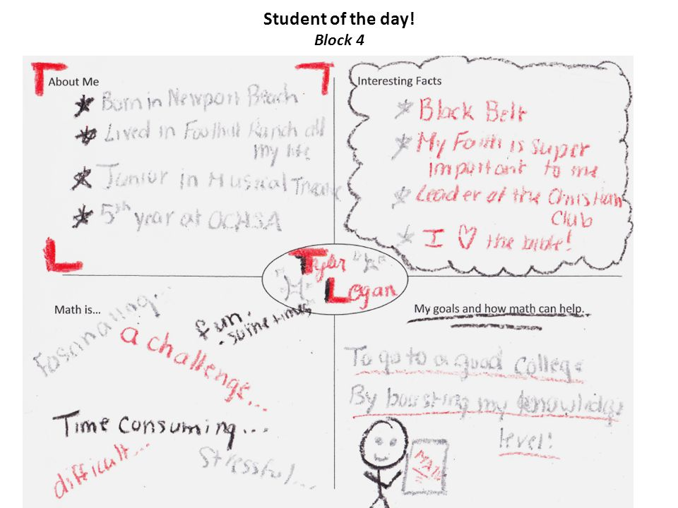 Student of the day! Block 5