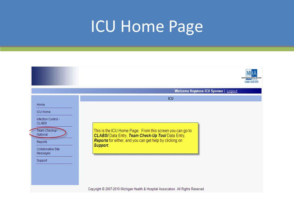ICU Home Page