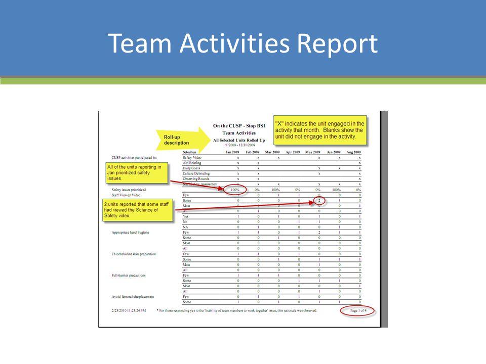 Team Activities Report