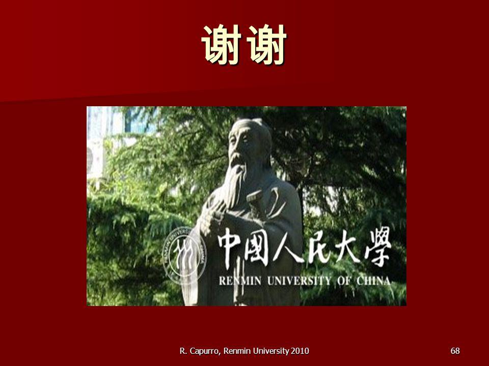 R. Capurro, Renmin University 201068 谢谢