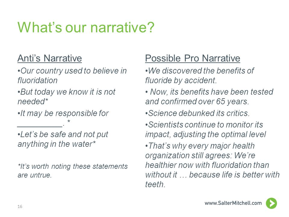 What's our narrative.