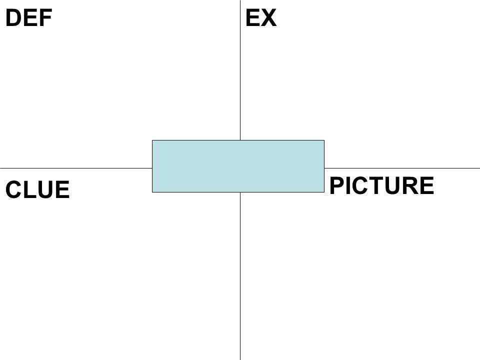 DEFEX CLUE PICTURE