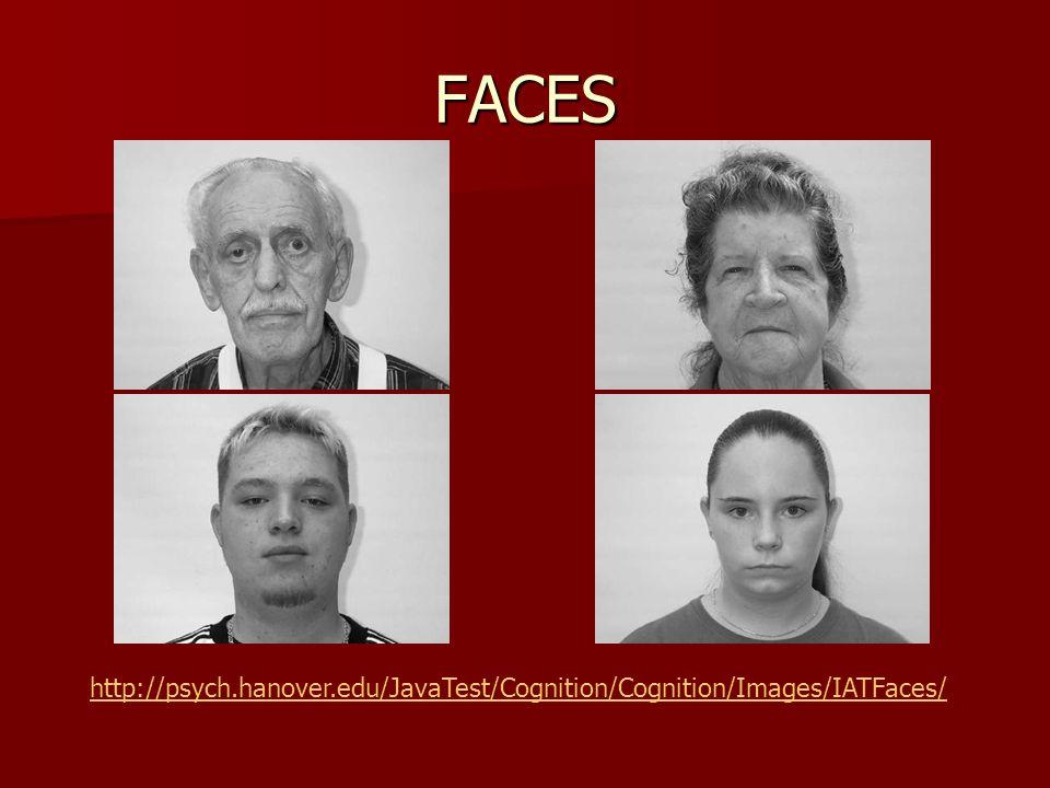 FACES http://psych.hanover.edu/JavaTest/Cognition/Cognition/Images/IATFaces/