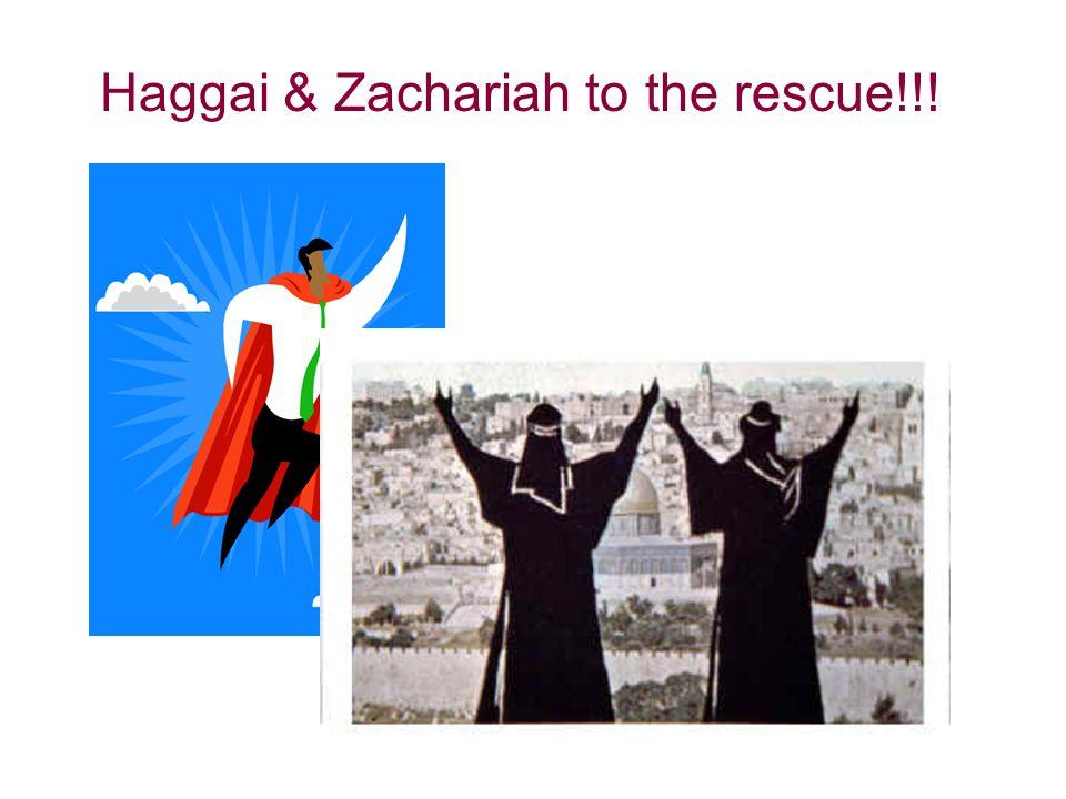 Haggai & Zachariah to the rescue!!!