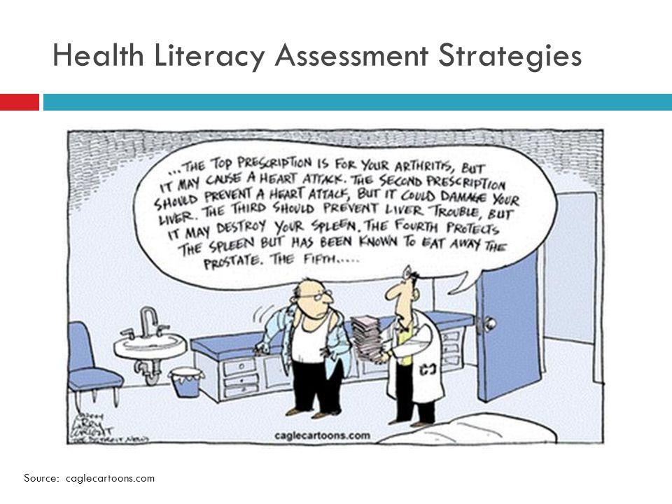 Health Literacy Assessment Strategies Source: caglecartoons.com