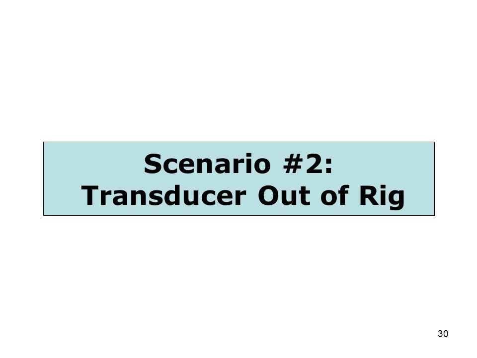 30 Scenario #2: Transducer Out of Rig