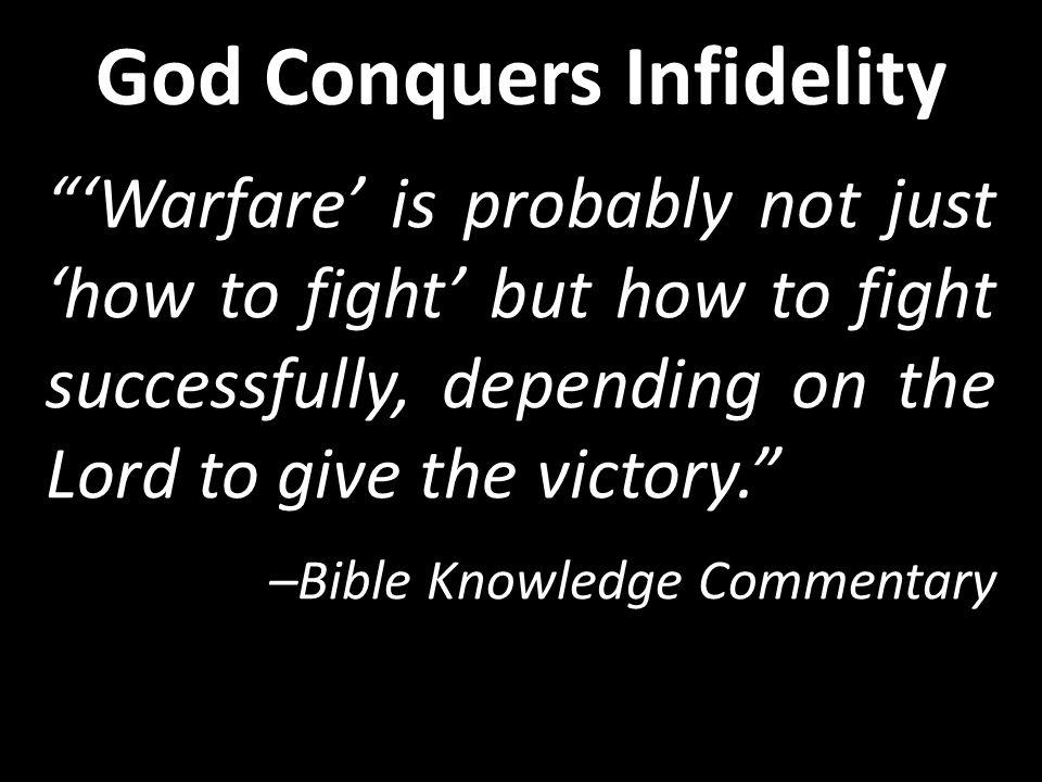 Israel rebels Israel repents God raises up an enemy God restores using judges God Conquers Infidelity