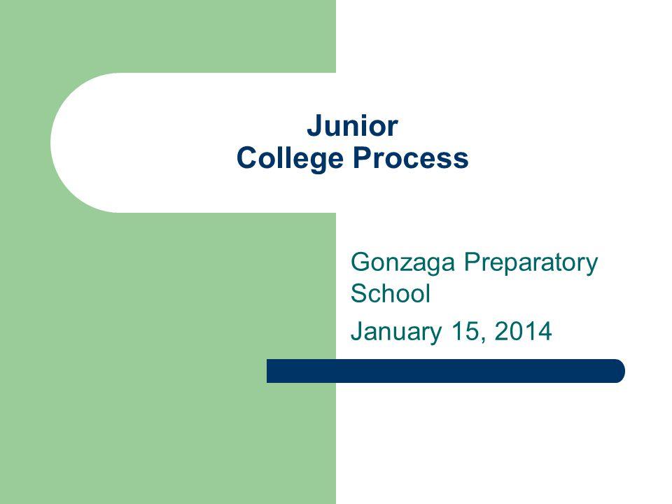 Junior College Process Gonzaga Preparatory School January 15, 2014