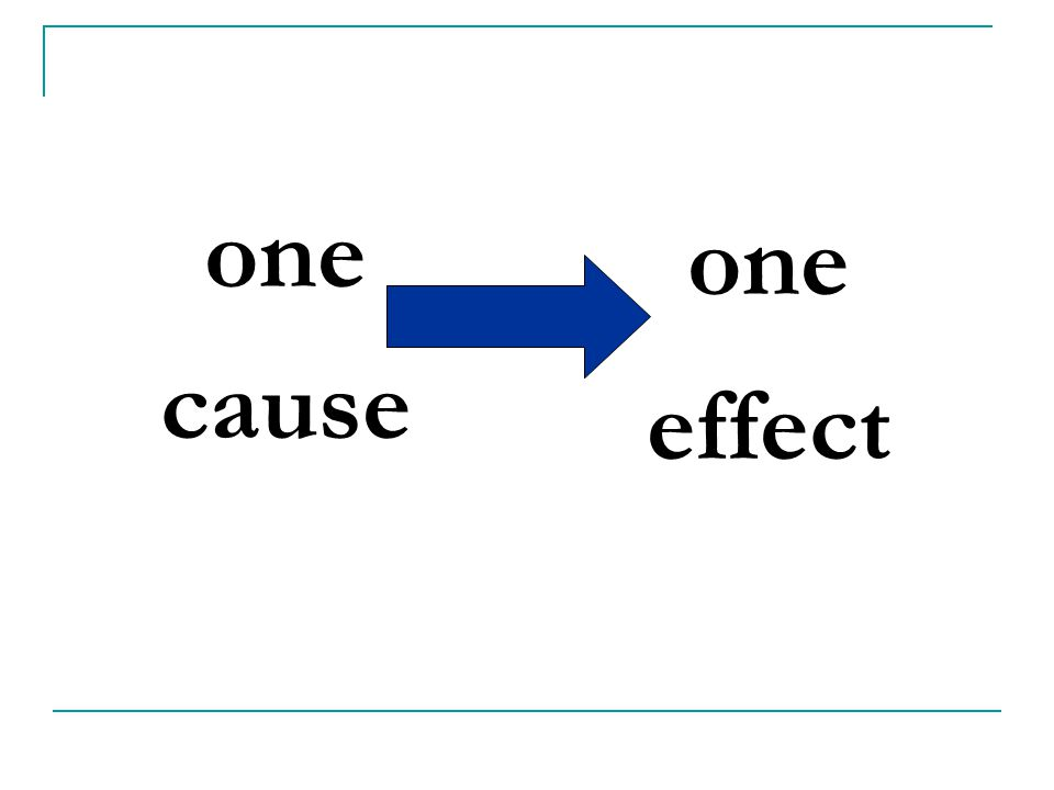 one cause one effect