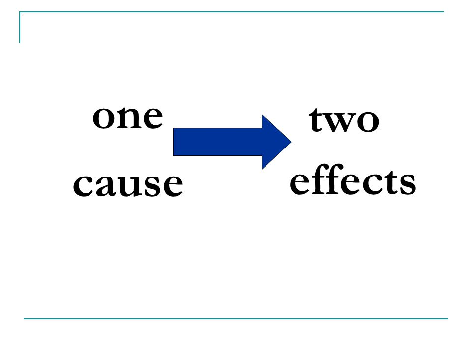 one cause two effects