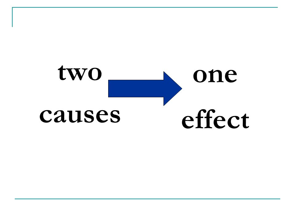 two causes one effect