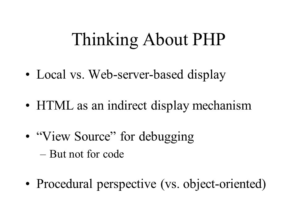 Making PHP ----- HTML stuff ----- <?php ----- PHP stuff ----- ?> ----- HTML stuff ----- http://---URL stuff---/xxxxx.php