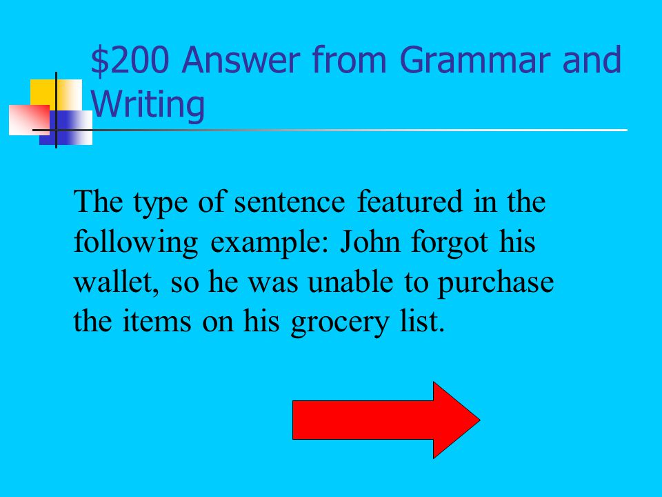 $100 Question from Grammar and Writing What are a complete subject, complete predicate, and a complete thought