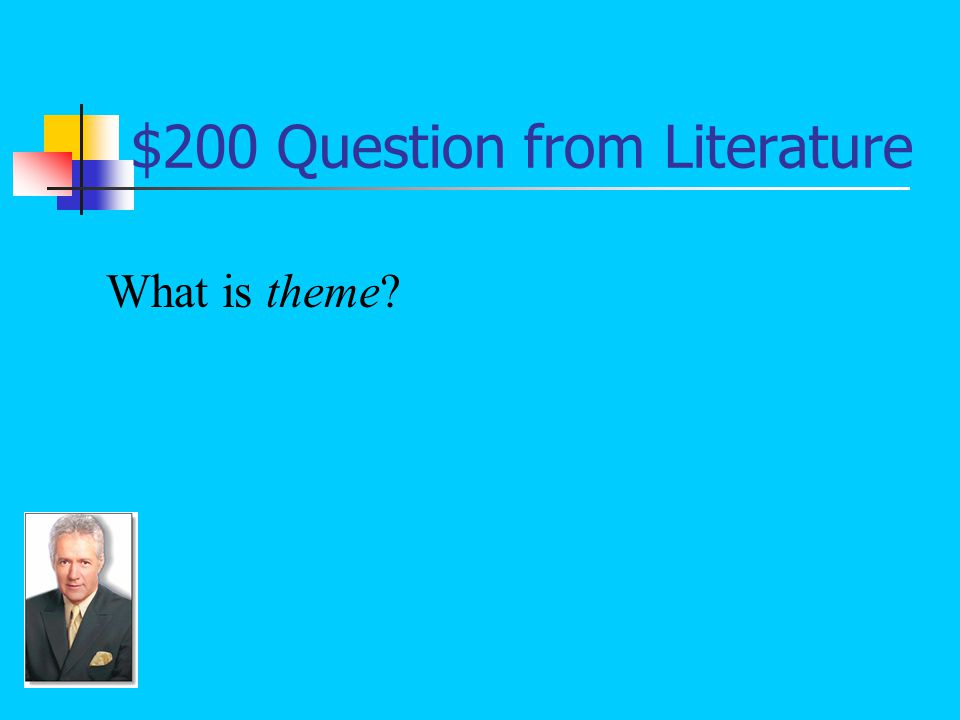 $200 Answer from Literature The lesson to be learned from a story: Friendship is more important than a boxing match.