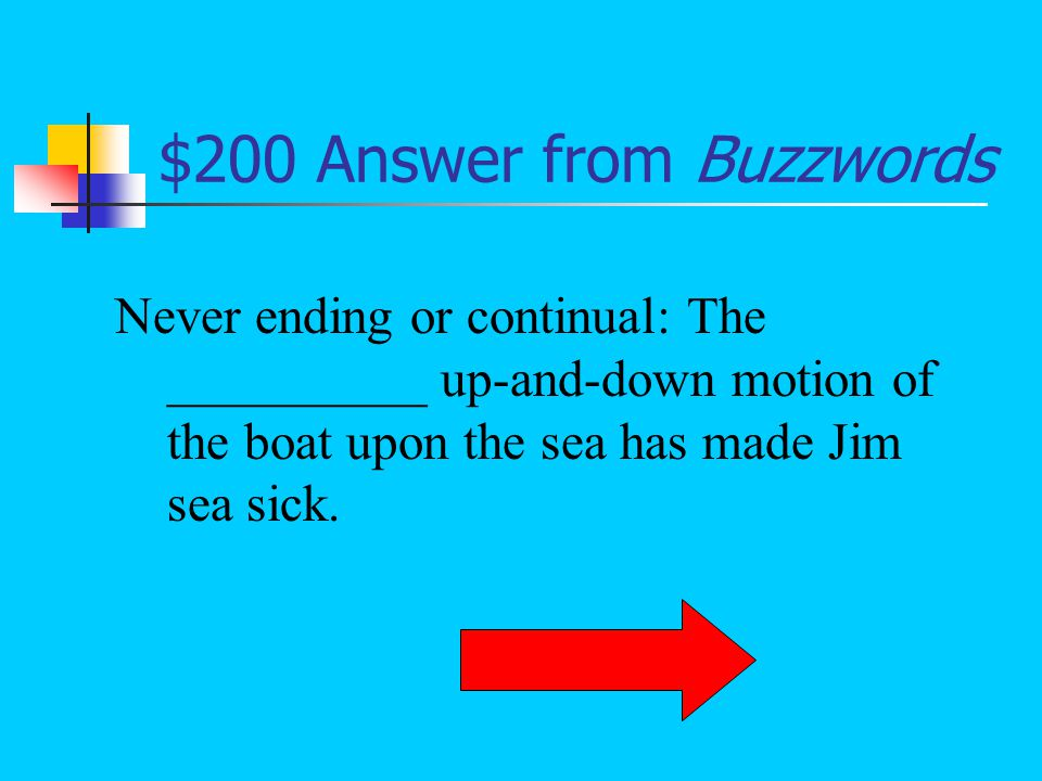 $100 Question from Buzzwords What is barrage