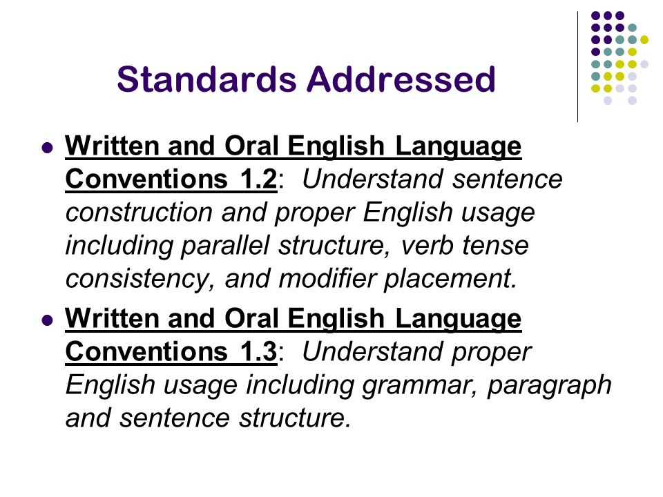 written and oral english language conventions essay