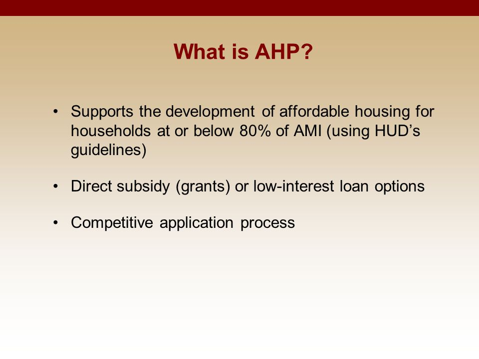 What is AHP.