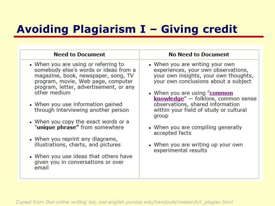 Avoiding Plagiarism II - Citations Citations You must be absolutely clear that you are using a source, and where it can be found … While our first goal is an incremental study that uses a similar methodology to Boyle et al (2000), there is a major difference between our study and theirs.