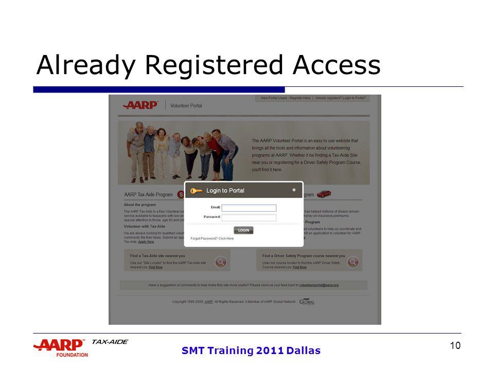 10 SMT Training 2011 Dallas Already Registered Access