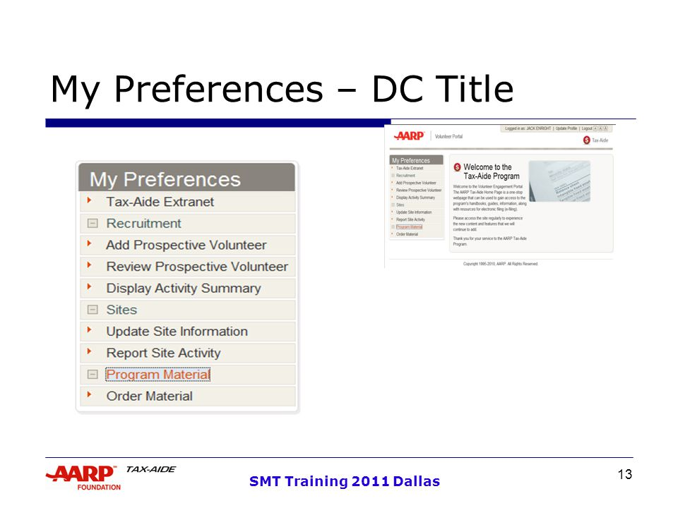 13 SMT Training 2011 Dallas My Preferences – DC Title