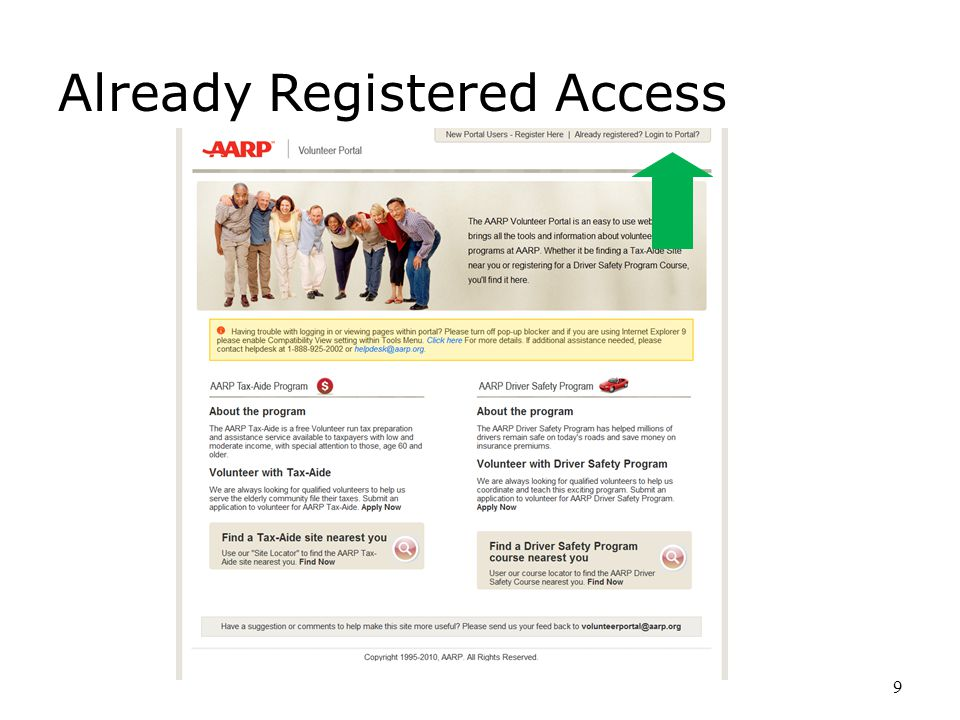 9 Already Registered Access