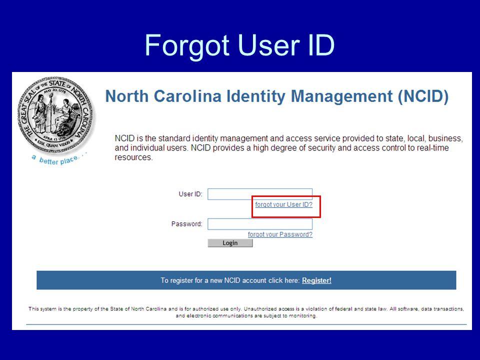 Forgot User ID