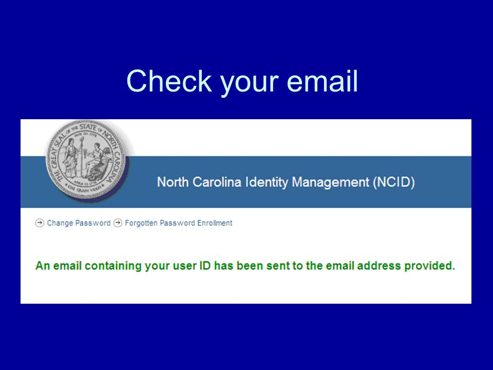 Check your email