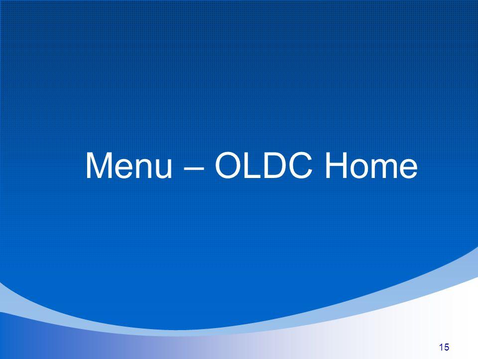 15 Menu – OLDC Home