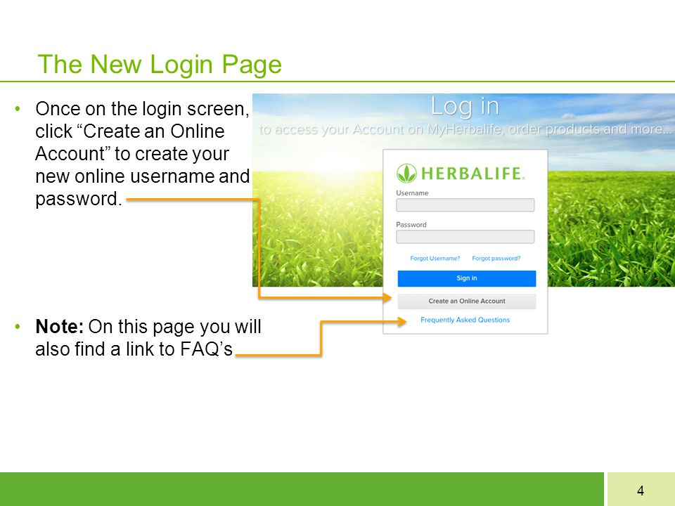"""4 The New Login Page Once on the login screen, click """"Create an Online Account"""" to create your new online username and password. Note: On this page yo"""