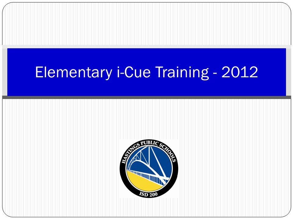 Elementary i-Cue Training - 2012