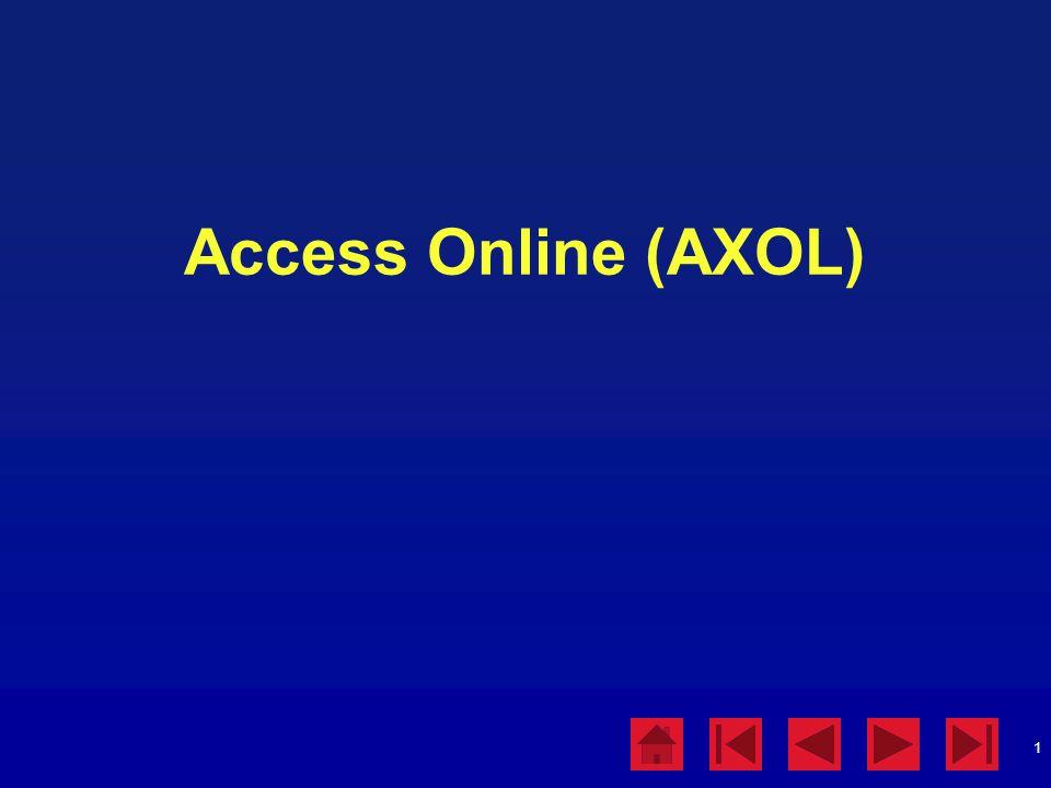 1 Access Online (AXOL)