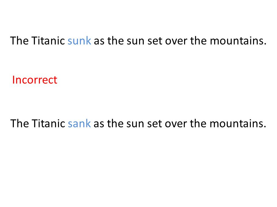 The Titanic sunk as the sun set over the mountains.
