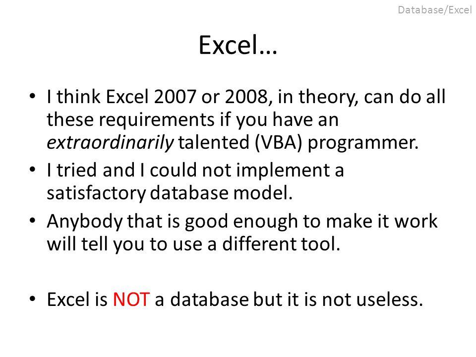 Excel 2003 vs.