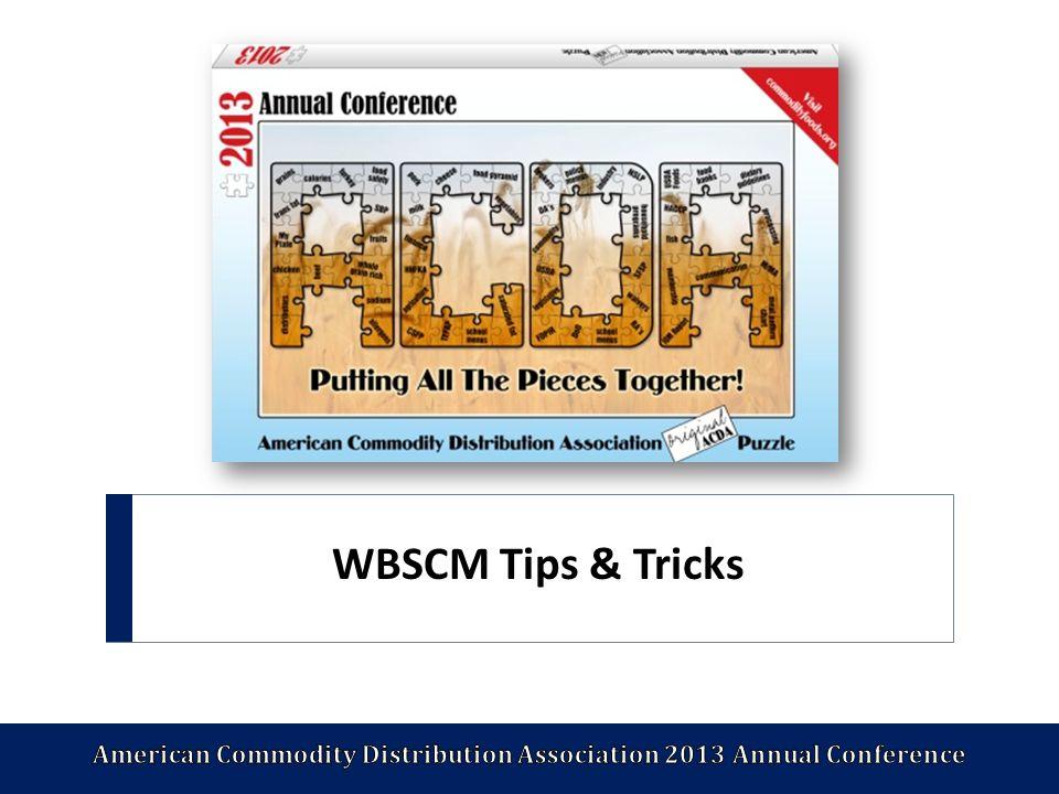 WBSCM Tips & Tricks