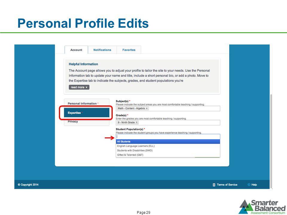 Personal Profile Edits Page 29