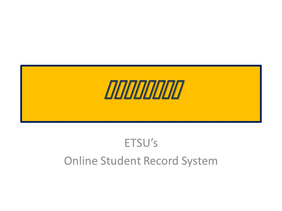 What's in GoldLink? Student Records Academic Transcripts