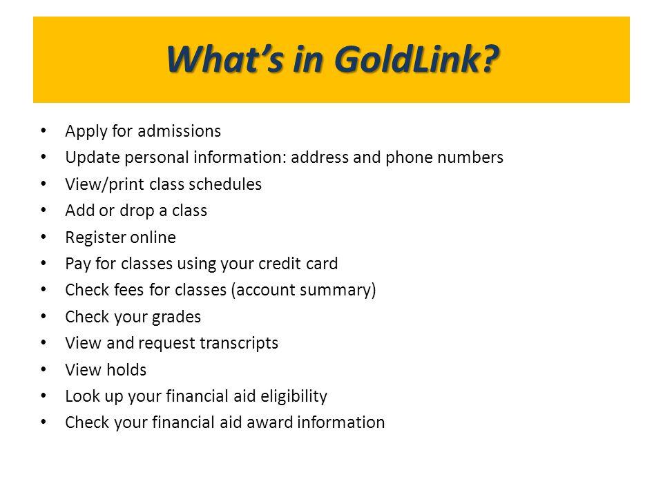Go to http://www.etsu.eduhttp://www.etsu.edu Select GoldLink icon See ETSU Alert option for outages, etc.
