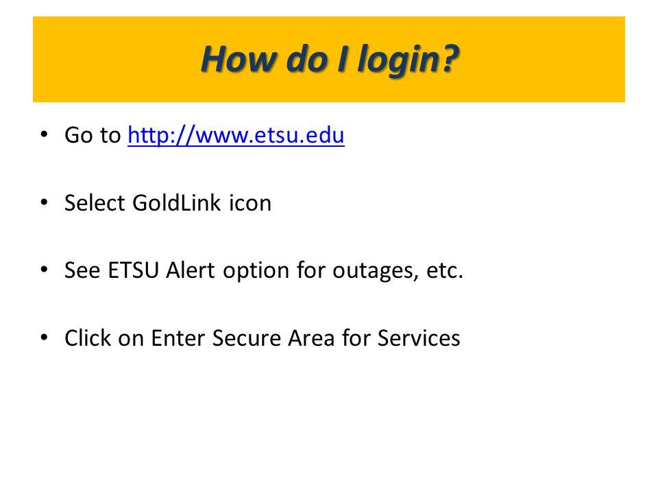 What's in GoldLink? How do I login?