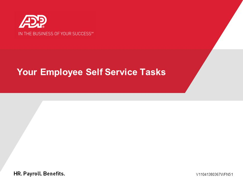 V11041380367WFN51 Your Employee Self Service Tasks