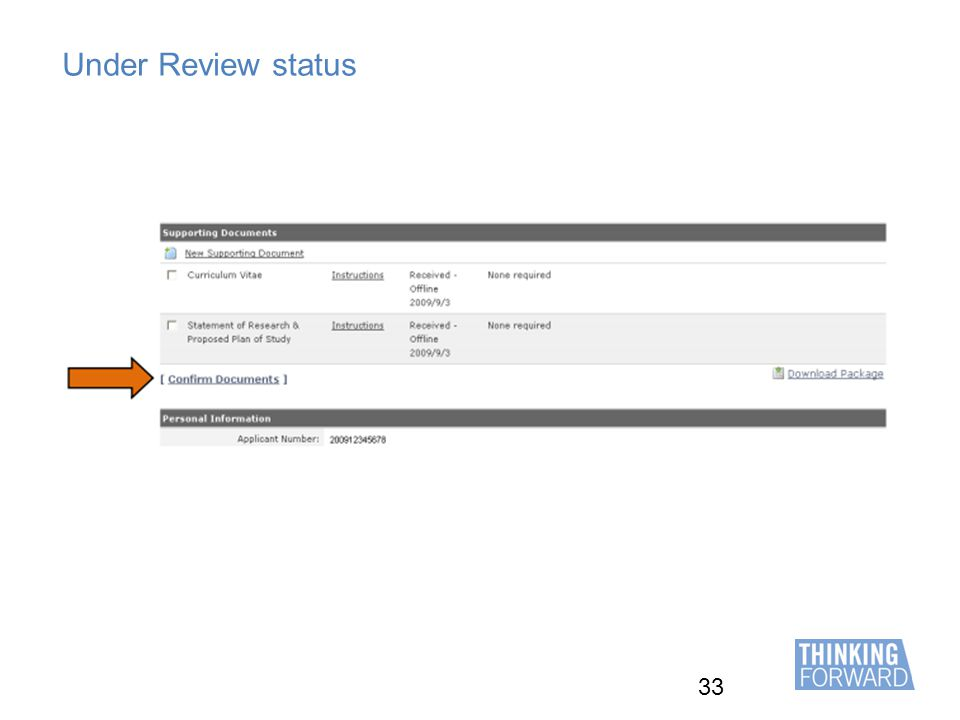 33 Under Review status