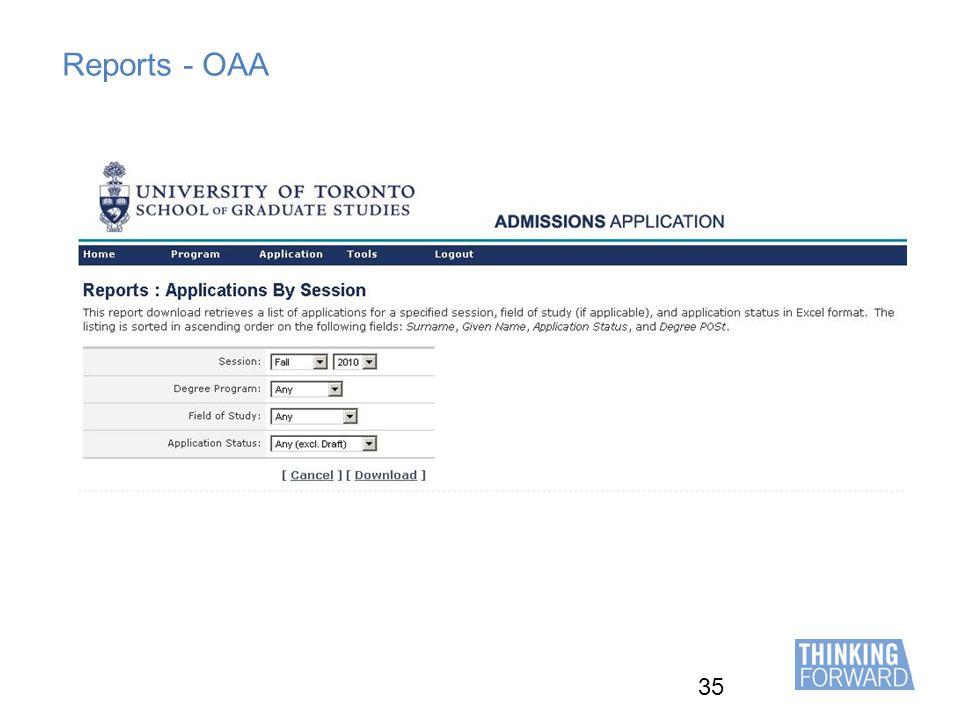 35 Reports - OAA