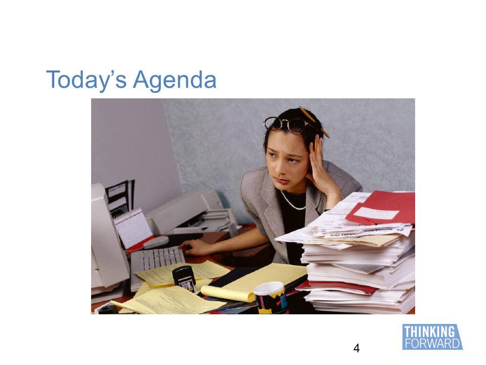 4 Today's Agenda