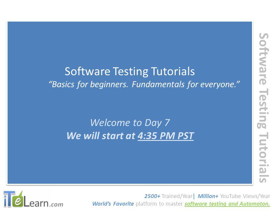 .com Software Testing Tutorials Basics for beginners.