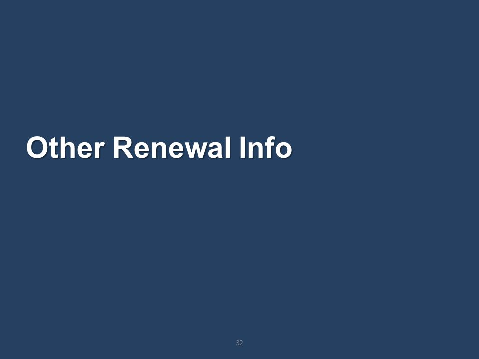 Other Renewal Info 32