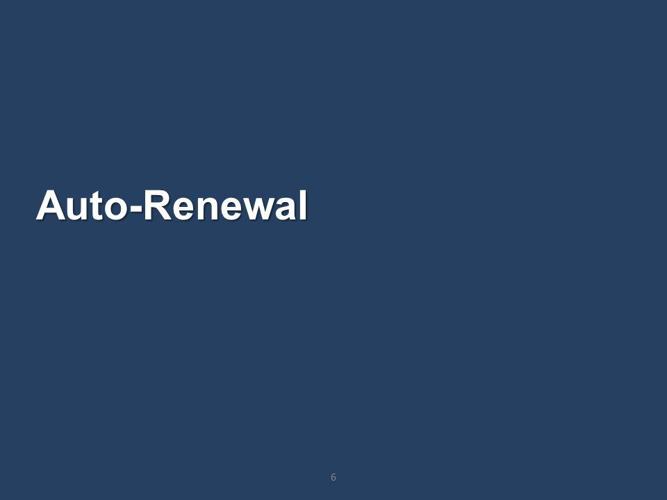 Auto-Renewal 6