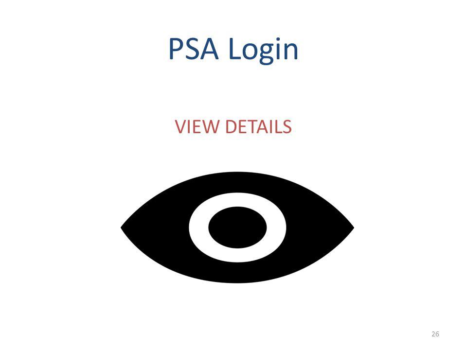 PSA Login VIEW DETAILS 26