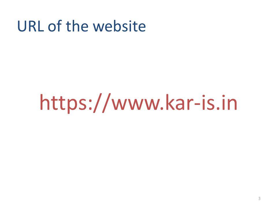 URL of the website https://www.kar-is.in 3