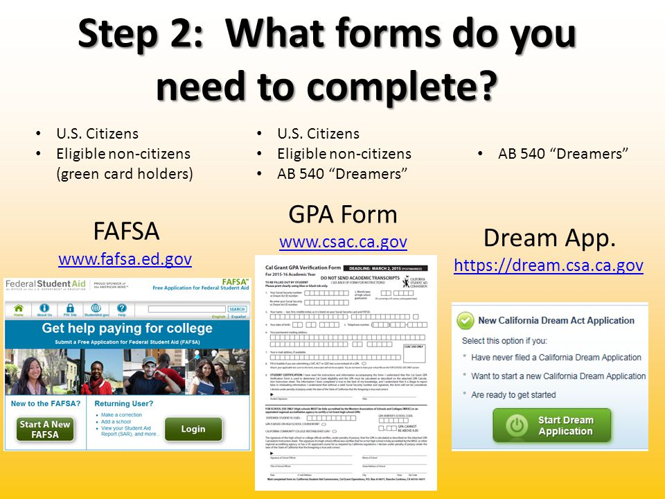 Step 2: What forms do you need to complete. U.S.