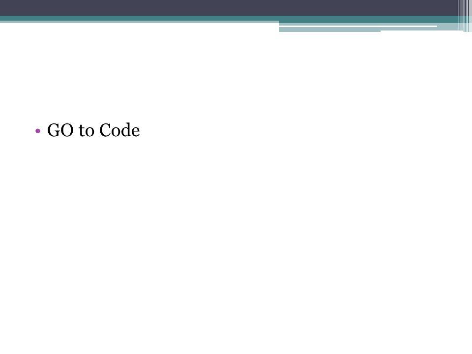 GO to Code