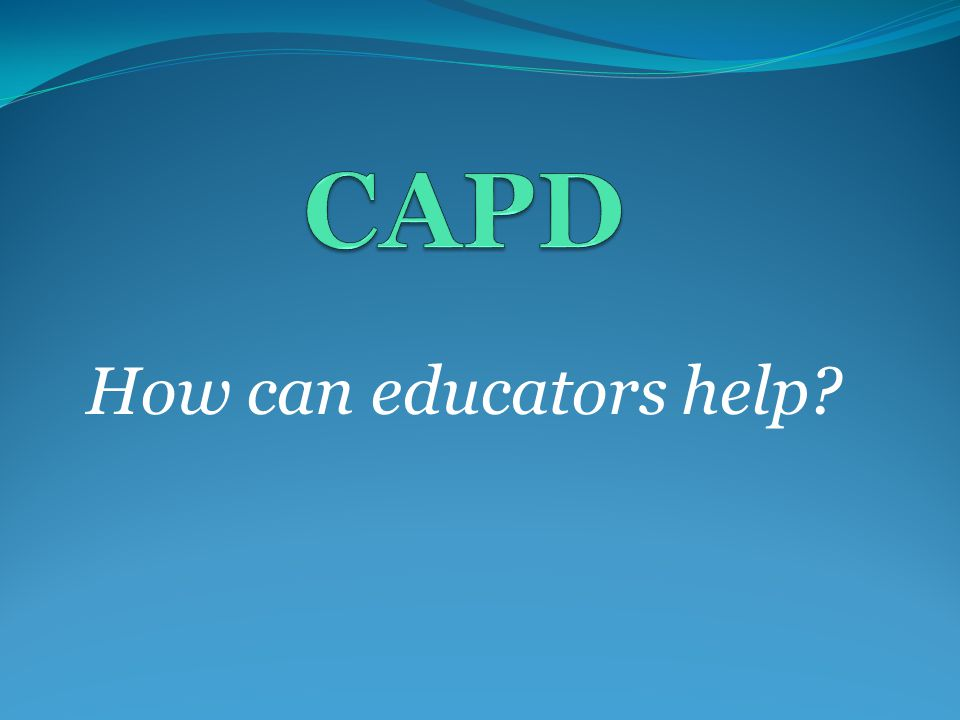 How can educators help?